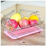 Hyvaluable Cesta de Fruta del Acero Inoxidable Sala de Estar Almacenamiento Cesta de Fruta Creativa Fruta de balanceo (Tamaño : B)