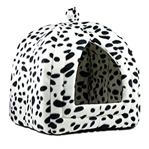Denny-International–Pet-Cat-Dog-Fleece-Washable-Igloo-Bed-Pyramid-Cozy-Pets-Hut-House-Travel-Basket