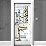 Skelett Badezimmertür Szene Einstellung