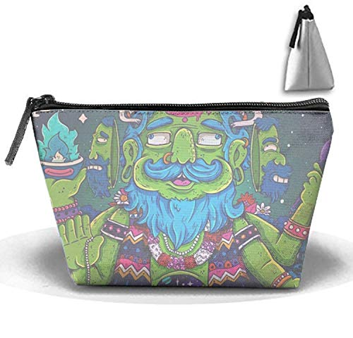 Mutant Man Cosmetic Bags Organizer Portable Pouch Trapezoidal Storage Toiletry Bag