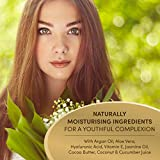 Organic Hyaluronic Acid Face Cream Vegan 100ml - LARGER SIZE - Concentrated Moisturiser for Women with Aloe Vera + Vitamin E - Total Age Repair Night + Eye Cream - Skin Care Made in Germany