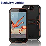 Outdoor Handy, Blackview BV4000Pro IP68 Smartphone Wasserdicht, Stoßfest und Staubdicht, Rugged Handy 2GB RAM + 16GB ROM Android 7.0, 2MP + 8MP Sony Rear Kameras mit 3680mAh Battery,Dual SIM Karte, GPS,Schönheitsfunktion,Corning Gorilla Glass 3-Orange