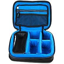 Bolsa acolchada profesional negra con compartimentos para Altavoz Portátil BassBuds BassBoomz Bluetooth / Betron JRS40 Pop Up Mini Travel II , MC500 Mini / EC Technology S1021004 / GOJI GBTB14 , GBTW14 / Goodmans GBTSPKCUBE / iHome iBT68 - DURAGADGET