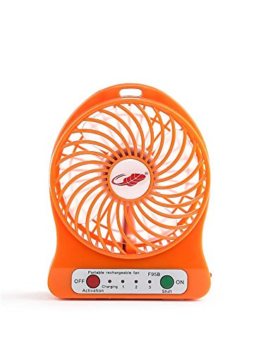 Whinsy Branded Powerful Portable Wireless Rechargeable Mini Fan With LED Light(Assorted)