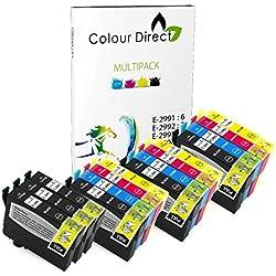 Colour Direct - 15 Compatible Cartuchos de tinta - 29XL Remmplazo Para Epson Expression Home XP-235 XP-245 XP-247 XP-255 XP-257 XP-332 XP-335 XP-342 XP-345 XP-352 XP-355 XP-432 XP-435 XP-442 XP-445 XP-452 XP-455 Impresoras. 6 X 2991 3 x 2992 3 X 2993 3 X 2994 ( 15 Tintas )
