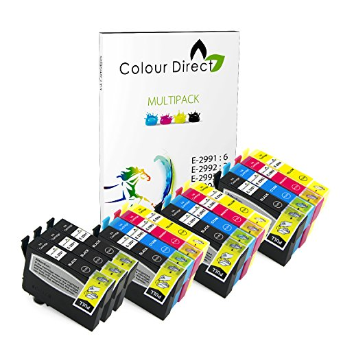 Colour direct - 15 compatibile inchiostro cartuccias - 29xl sostituzione per epson expression home xp-235 xp-245 xp-247 xp-332 xp-335 xp-342 xp-345 xp-432 xp-435 xp-442 xp-445 stampantes. 6 x 2991 3 x 2992 3 x 2993 3 x 2994 ( 15 inchiostros )