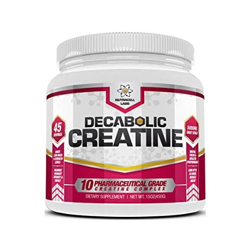 Nutracell Labs Decabolic Creatine : Powerful 10 Blend (45 Servings – 5000mg Per Serving) Muscle...