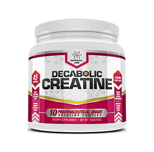 Nutracell Labs Decabolic Creatine : Powerful 10 Blend (45 Servings - 5000mg Per Serving) Muscle Growth & Strength Without Steroids / HGH