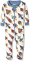 Hatley Baby-Jungen Strampler Footed Coverall-Retro Rockets