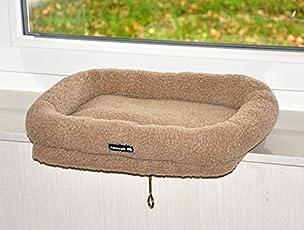 nanook Katzen Fensterbankliege Katzenliege für Fenster Liegemulde SLEEPY, Größe L, Teddyfell