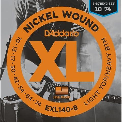 D'Addario EXL140-8 Set Corde Elettrica EXL