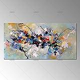 HANHAIBO Beste Neue Bild Malerei Abstrakte Ölgemälde auf Leinwand 100% Handgefertigt Bunte Leinwand Kunst Für Home Wand Dekor, 60×120 cm