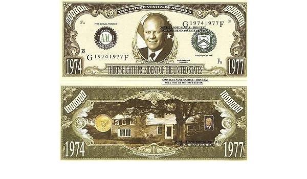 GERALD FORD 38th PRESIDENT DOLLAR LOT OF 10 BILLS