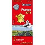 Michelin Frankreich 2018 (plastifiziert): Straßen- und Tourismuskarte 1:1.000.000 (MICHELIN Nationalkarten)