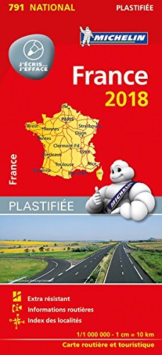 Carte France Plastifiée Michelin 2018 par Michelin