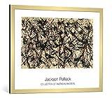kunst für alle Bild mit Bilder-Rahmen: Jackson Pollock Nummer 32