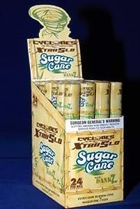 Cyclones XtraSlo Lot de 5 cônes pré-roulés à double emballage et combustion lente saveur canne à sucre