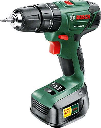 Preisvergleich Produktbild Bosch PSB 1800 LI-2 Cordless Lithium-Ion Hammer Drill Driver with 18 V Battery by Bosch