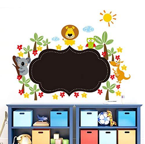 Wandaufkleber Tier Löwe Cartoon lustige DIY Tiere Zoo Löwe Känguru Koalas Vogel Blume Baum nützliche Tafel Tafel Abziehbild Wandaufkleber für Kinder