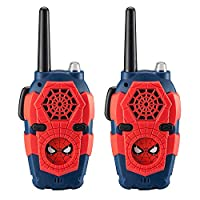 Walkie Talkies for Kids Spiderman Far from Home Kids Walkie Talkies Range Lights & Sound Kid Friendly Easy to Use for Indoor Outdoor Adventures