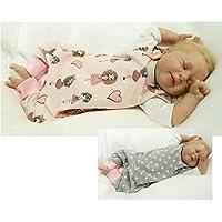 Atelier MiaMia - Wendestrampler Baby Kind von 50, 56, 62, 68, 74, 80, Designer Strampler Limitiert !! Mädchen und Herzen