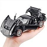 Arteki for 1:32 Lamborghini Miula Miura Classic Car Model Alloy Diecast Toys Sound And Light Pull Back Toy Car for Kids Classic (Black)