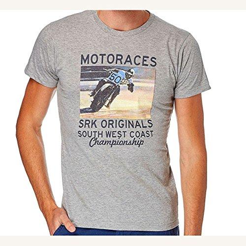 SRK-Kurzarm-T-Shirt manches courtes Mann CORACE Grau