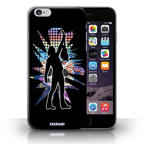 KOBALT® Hülle Case für iPhone 6+/Plus 5.5 | Windmill Schwarz Entwurf | Rock Star Pose Kollektion Reichen Schwarz