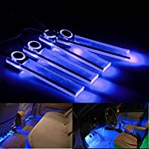 lesmartzyn (TM) Ambiente de coche de luces LED para interior de coche decorativo para decoración de coche bombillas de luces LED color azul universal para VW