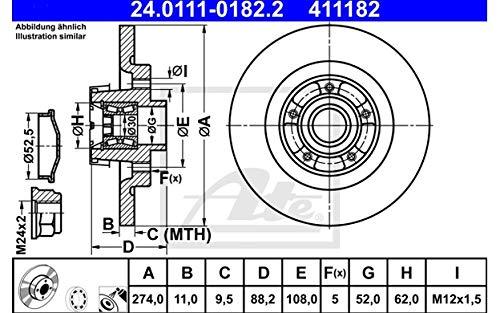 ATE 24011101822 Disque de frein
