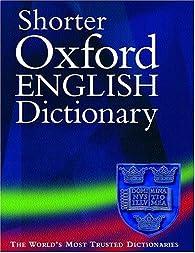 New Shorter Oxford English Dictionnary par Université d'Oxford