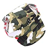 Beito Cane Protezione di Sun Accessori per Animali Camouflage Dog Hat Traspirante Baseball Cappelli Esterni Tappi con Foro di Orecchio per Le Piccole Medie Cani di Taglia Grande Taglia M