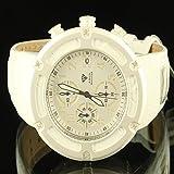 Sleek Weiß Herren epic Aqua Master Diamant Uhr 3Zifferblatt Vater Tag Verkauf