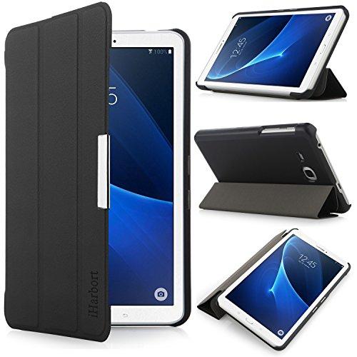 7 Cover Tablet Samsung (iHarbort® Samsung Galaxy Tab A 7.0 Hülle - Ultra Slim Leder Tasche Hülle Etui Schutzhülle Für Samsung Galaxy Tab A 7.0 Zoll SM-T280/ T285 Case Cover Holder,(Galaxy Tab A 7.0, Schwarz))