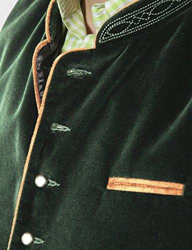 Stockerpoint Herren Trachtenweste Weste Ricardo, Grün (Tanne), Large (Herstellergröße: 52) - 5