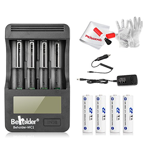 4pcs-zhiyun-crane-37v-2000mah-18650-li-ion-batteries-with-beholder-battery-charger-with-lcd-display-