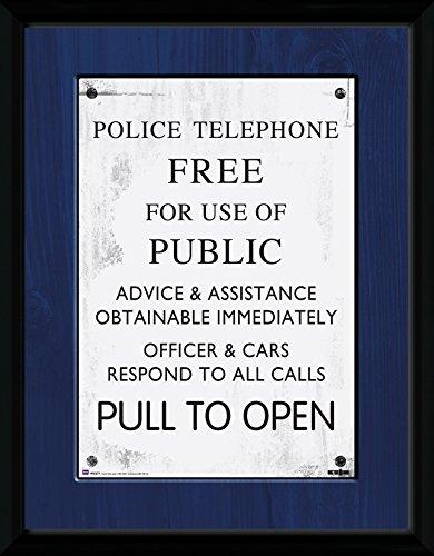 GB eye LTD, Doctor Who, Tardis Sign, Foto incorniciata, 40 x 30 cm