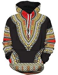 Magiyard T-Shirt Lovers Automne Hiver Africain Imprimé 3D Manches Longues  Dashiki Sweats À Capuche e2f5503f7c0