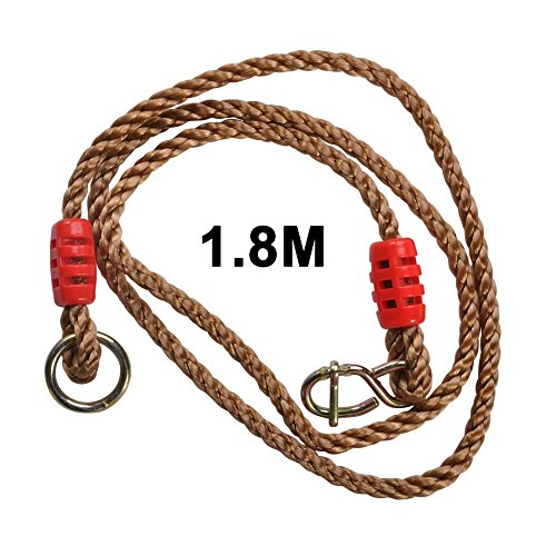 2Pcs Adjustable Swing Ropes 1.8M Tree Hanging Swing Straps Strong Ropes VGEBY