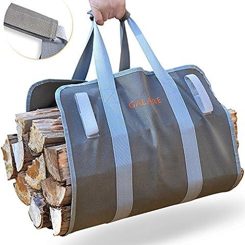 Premium de qualité de puissance Journal de bois de chauffage de transport Tote Heavy 453,6gram sur toile confortable Poignées rembourrées pliable avec Velcro