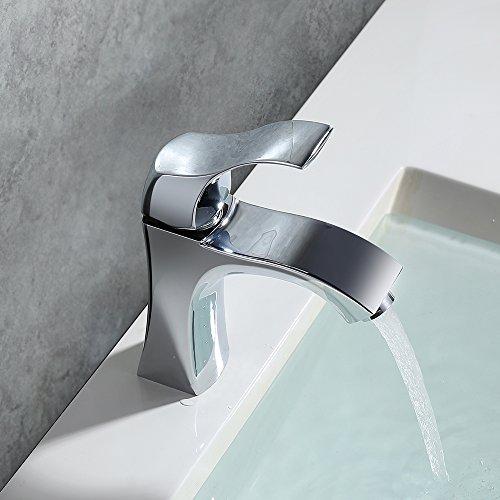 Homelody – Design-Waschbeckenarmatur, Einhebel, ohne Ablaufgarnitur, Keramikkartusche, Chrom - 9