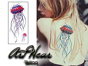 "Tatouage Temporaire ""Colourful Jellyfish"" - ArtWear Tattoo Beauty - B0200 M"