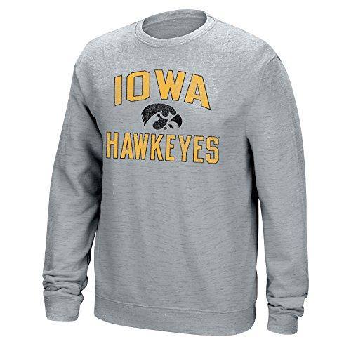 J America NCAA Iowa Hawkeyes Mens NCAA Men's Classic Arch Team Sweatshirt, Medium, Light Heather -