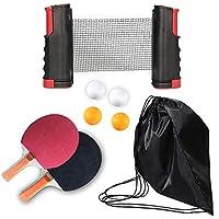 AGKupel - Mesa de ping pong portátil, juego de ping pong para niños y adultos, juego de manta para caminar, apto para casa, oficina, escuela, Niños, Rosso nero