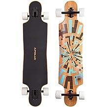 Soul Bamboo Twin Tip - Drop Thru Longboard | Nivel de Flexibilidad 2 : 60 - 100 kg | El Complet Long Board Más moderno del 2014 de la marca exclusiva Apollo| El Board con mucho estilo hecho de arce canadiense | Longitud: 101,8 cm / 40 in – Ancho: 24 cm / 9,5 in