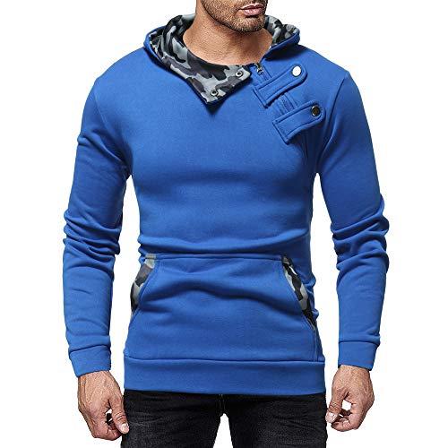 Luckycat Herren Herbst Winter Casual Camouflage Reißverschluss Slim Langarm Hoodie Top Bluse Mode 2018