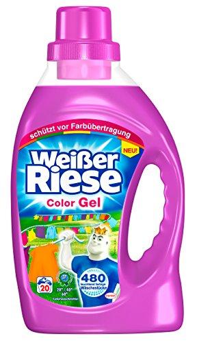 Weißer Riese Color Gel, 4er Pack (4 x 20 Waschladungen)