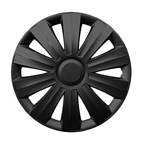 15 Zoll Radzierblenden SNAKE (Schwarz). Radkappen passend für fast alle VW Volkswagen wie z.B. Polo