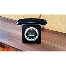 Téléphone sans fil DECT Rétro avec répondeur - noir