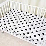 PENVEAT Babybettlaken Für Neugeborene Babybettlaken Star Dot Gedruckt Matratze Swaddle Sack 100% Baumwolle Neugeborenen Baby Bettwäsche-Sets Kinderbettlaken, Dot